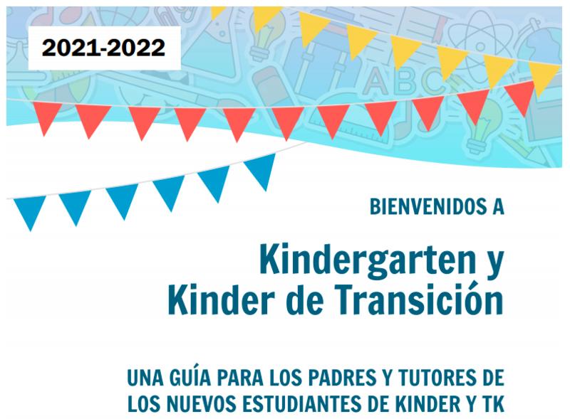Guía de Kindergarten y Kindergarten de Transición 2021-2022 en Español Featured Photo