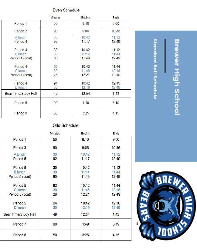 20-21 Spring Bell Schedule