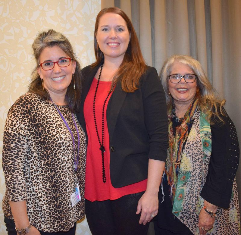 Casey Hanna, Dr. Erin Parker and Shirley Hunter