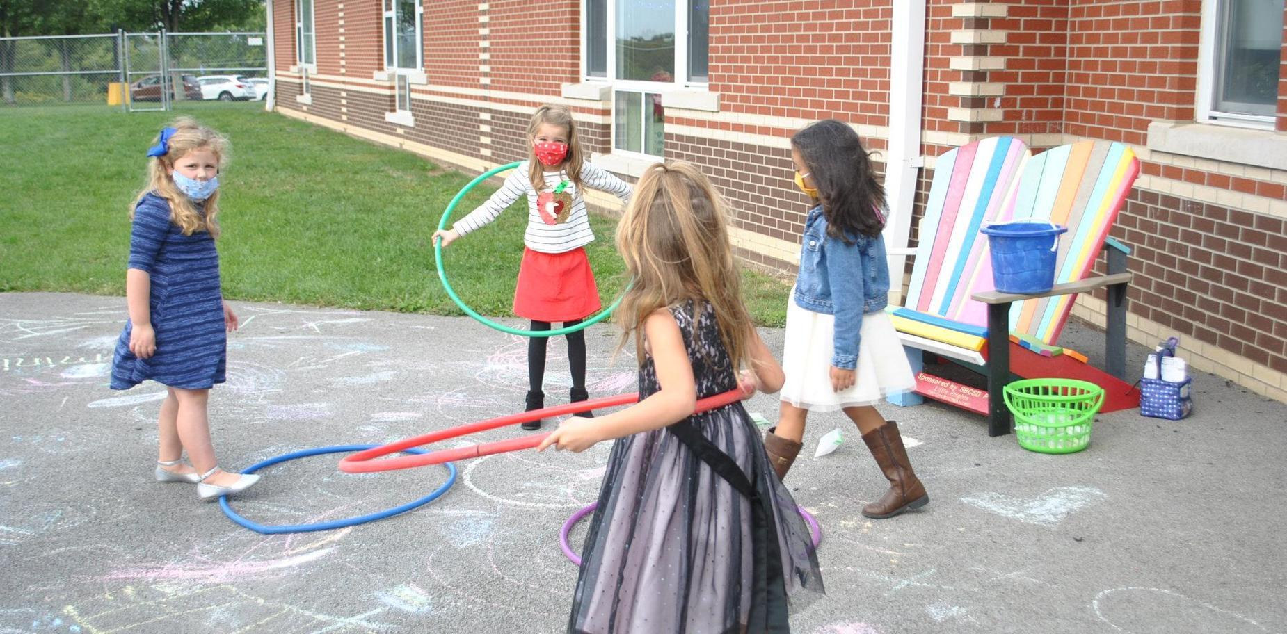 Students playing at recess