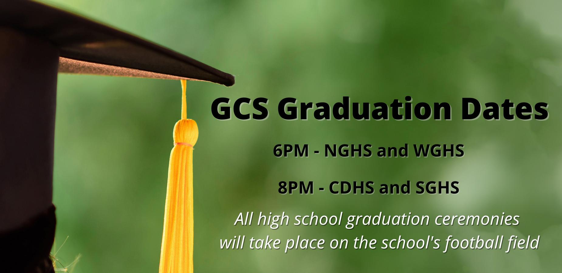 GCS Announces Graduation Dates