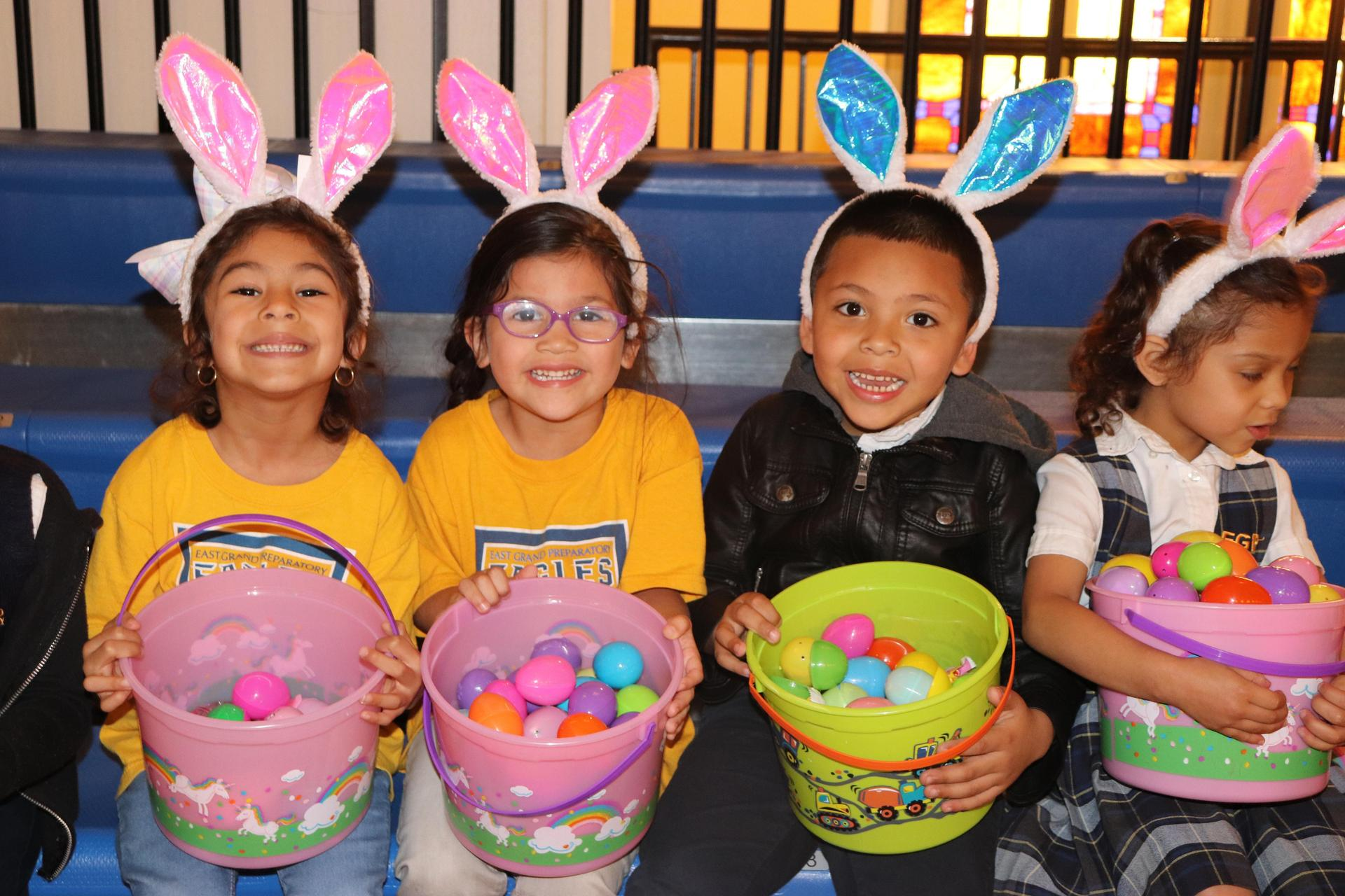 PreK celebrating Easter