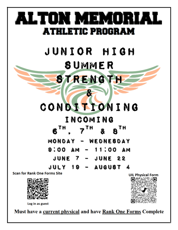 AMJH 2021 Summer strength and conditioning program