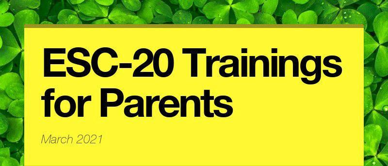 ESC-20 Trainings for Parents Featured Photo