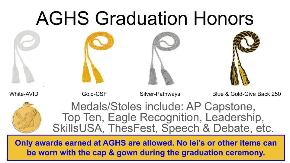 Honors Allowed at AGHS Graduation Ceremony