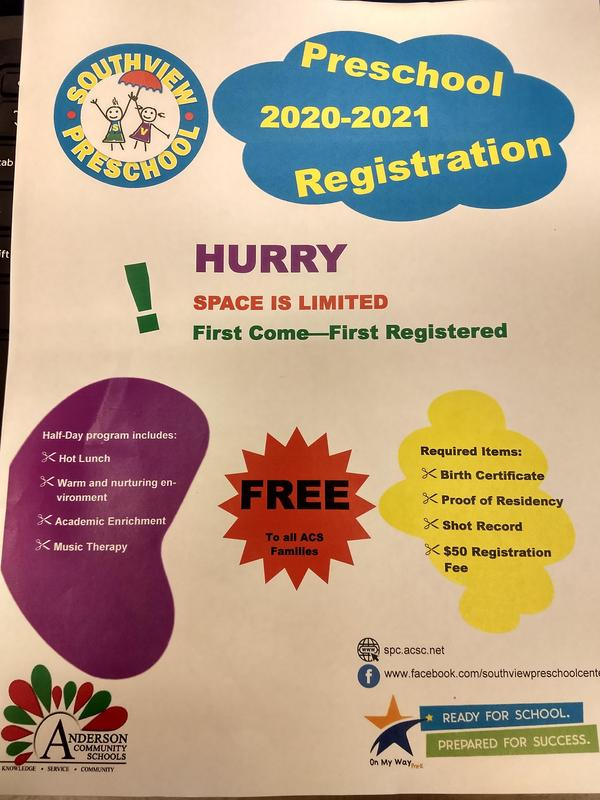 2020-2021 Preschool Registration for New Students Thumbnail Image