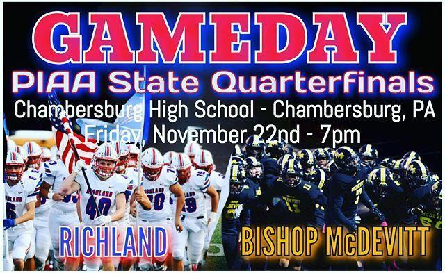PIAA State Football Quarterfinals - Click here to listen LIVE at 7pm. Featured Photo
