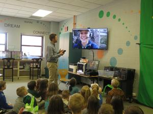 Mr. Fischer's class skypes with an expert at the South Carolina Aquarium.