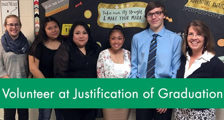 Volunteer at Justification of Graduation