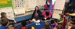 Blue Haze Elementary participated in Read Across America, to celebrate reading on Dr. Seuss' birthday  Seuss. The day included a variety of guest readers including the Chick-Fil-A Cow.