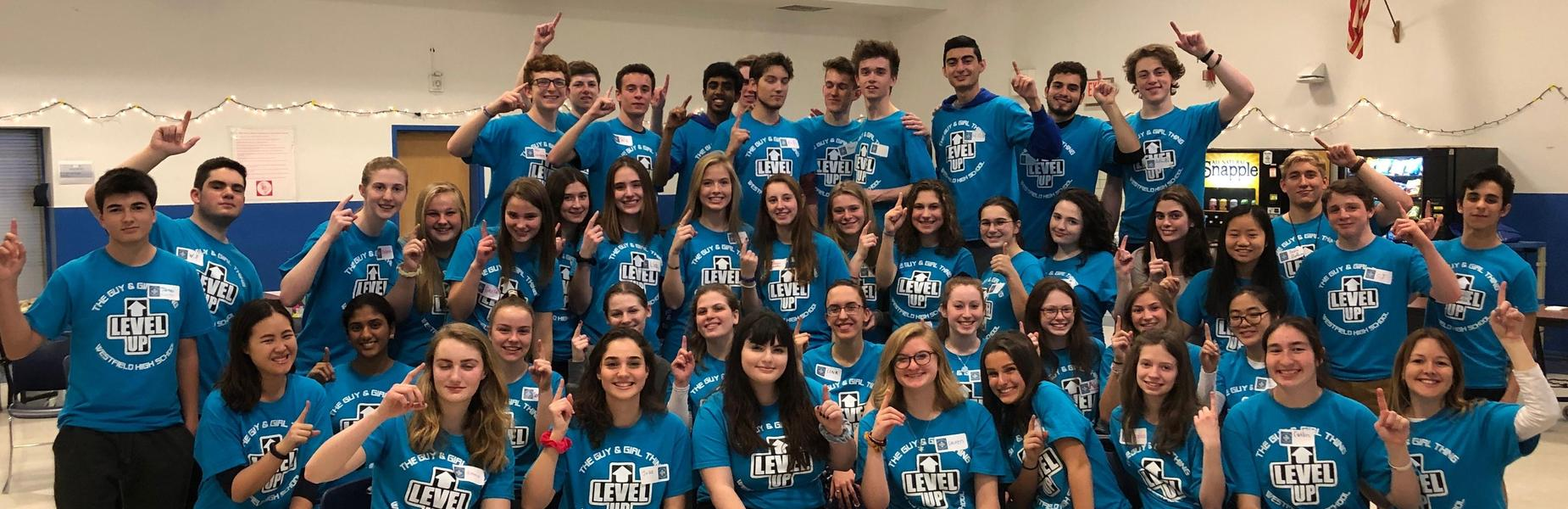 """:  Dubbed the """"Wingmen"""" and """"Cover Girls"""" because they """"take underclassmen under their wings and provide emotional cover,"""" 45 WHS juniors and seniors facilitated the annual Guy & Girl Thing at Westfield High School on March 22."""