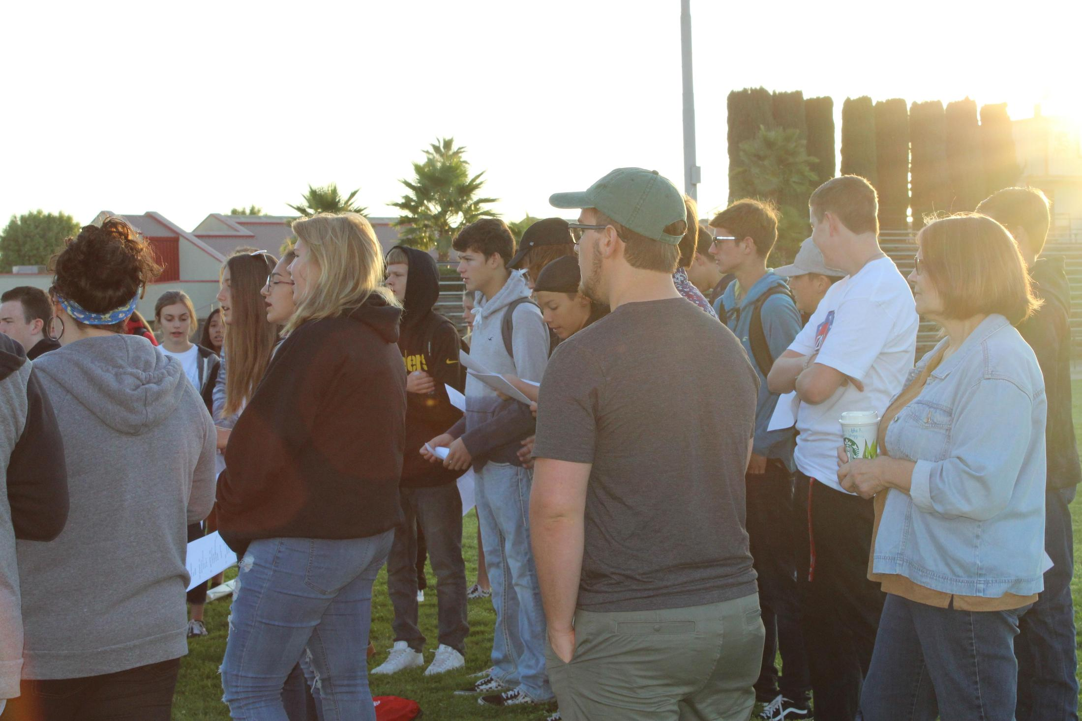 People enjoying the FCA activity 'At the Pole.'