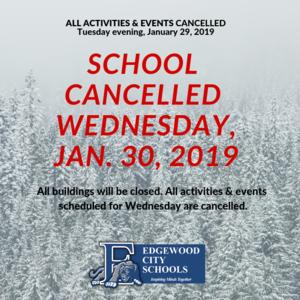 school cancelled Jan 30