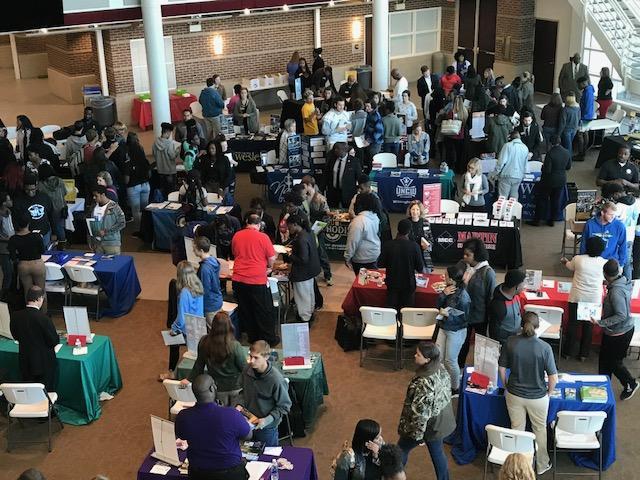 Students attend College Fair at ECC