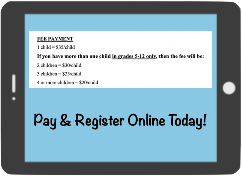ipad registration and fee info