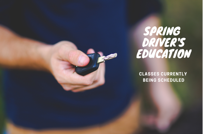 Spring Driver's Education Classes Planned Thumbnail Image