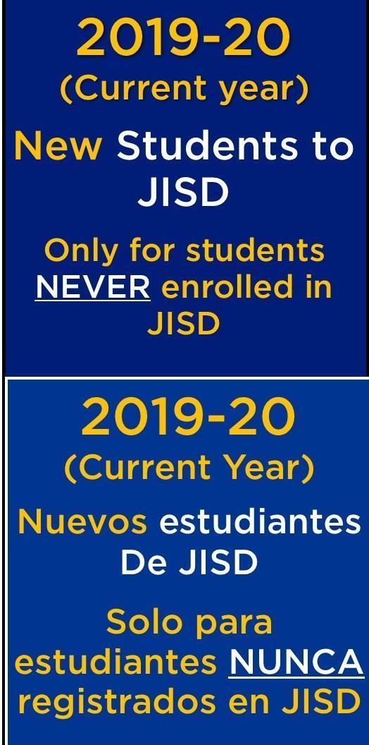 2019-20 new student enrollment