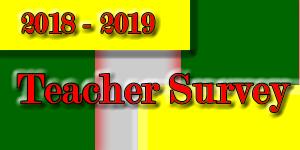 2018-2019 Teacher Survey