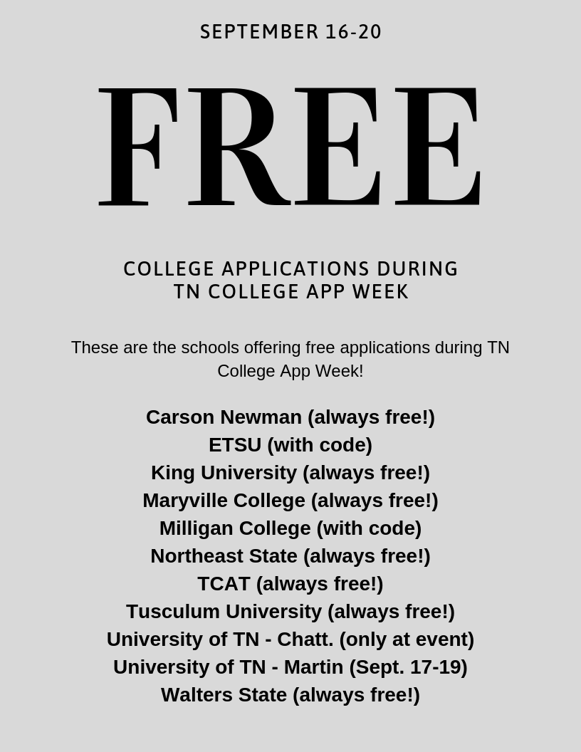 College App Week Participants