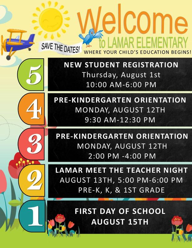 Pre-K, k, and 1st Meet the Teacher Dates