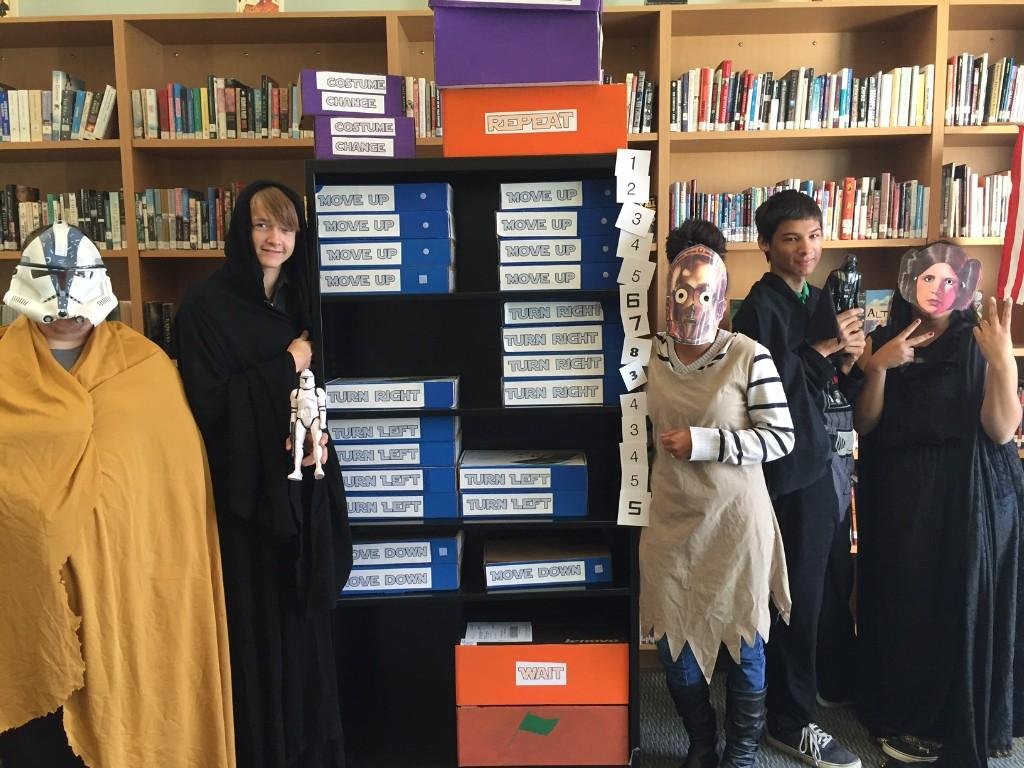 Students got in to Star Wars attire for hour of code