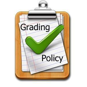 Green checkmark on clipboard that says Grading Policy