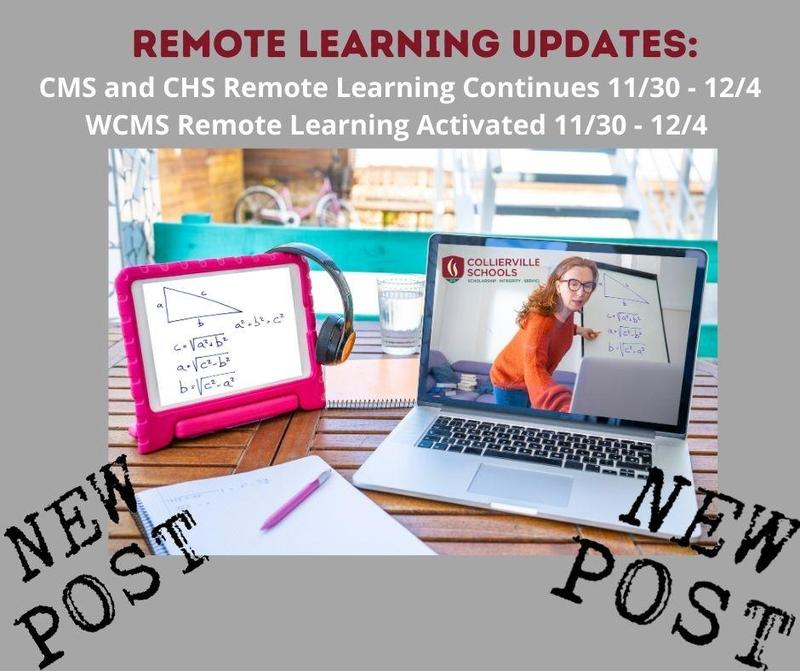 Remote Learning for CHS, CMS, and WCMS 11/30 - 12/4 Featured Photo