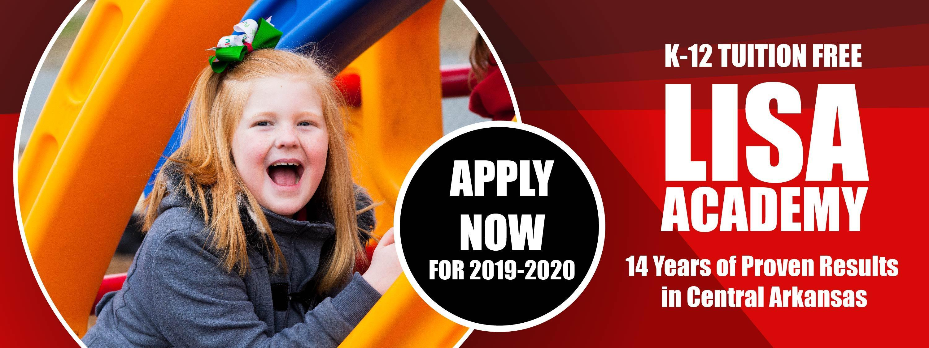 Apply Now for the 2019-20 School Year Image