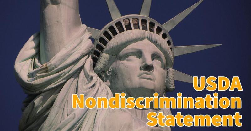 USDA Nondiscrimination Statement Revision