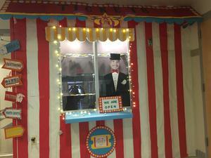 Carnival tent display