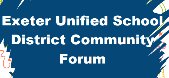 exeter unified school district community forum