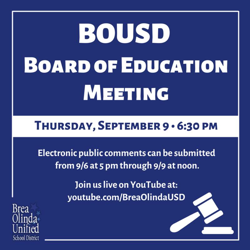BOUSD Board of Education Meeting - September 9