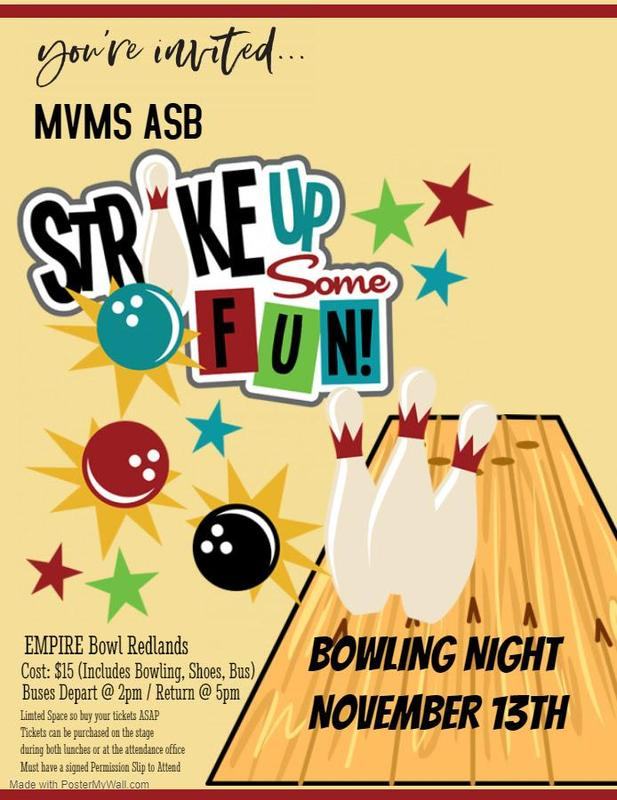 Notice of our bowling night
