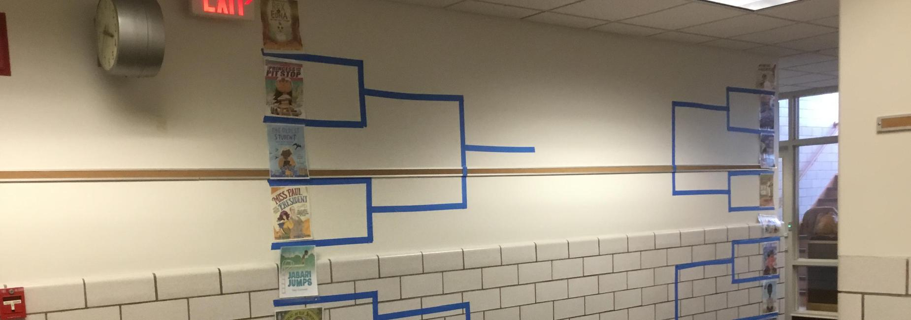 Books in a bracket