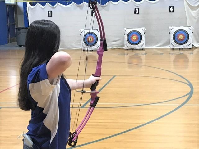 SEHS Archery Player in Action