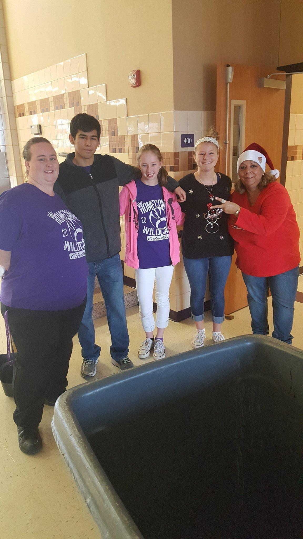 NHS students helping custodial staff