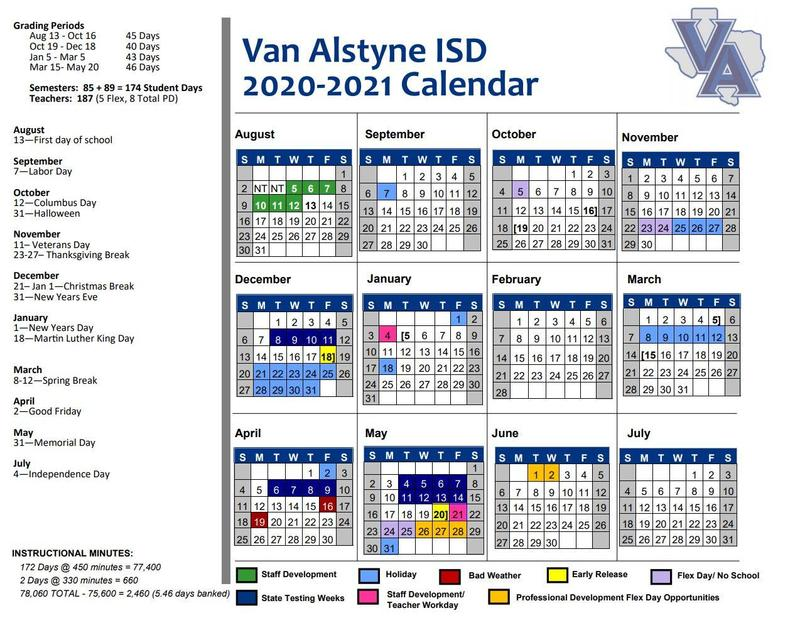 VAISD 2020-2021 Calendar Thumbnail Image