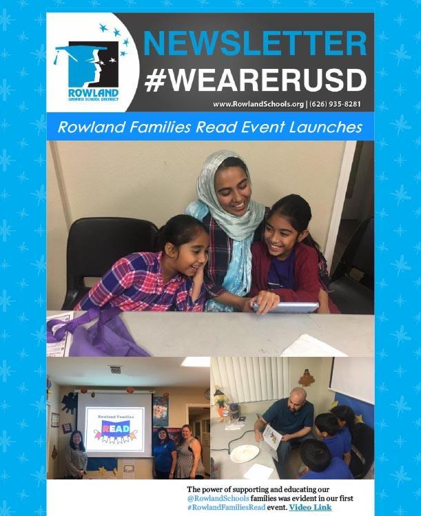 RUSD News 12-3-18 Issue -- Rowland Reads Program, Holiday Events and More! Thumbnail Image