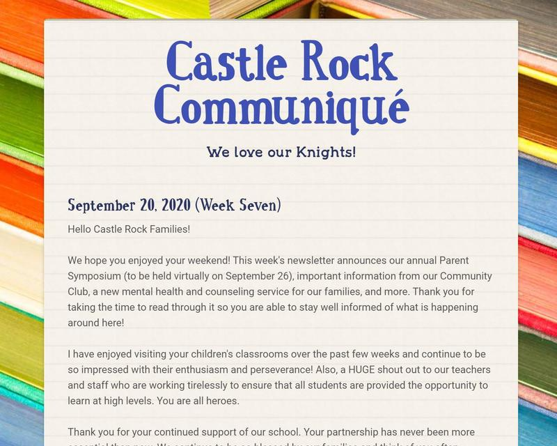 Weekly Newsletter, Dated 9-20-20 Featured Photo