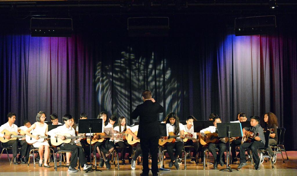 CCA's first Spring Concert, led by Mr. Lauchli.