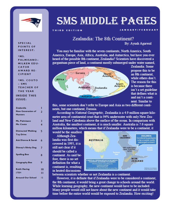 CHECK OUT THE LATEST EDITION OF THE SMS MIDDLE PAGES!!! Thumbnail Image
