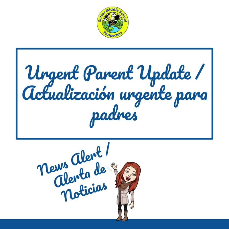 Urgent Parent Update / Actualización urgente para padres Featured Photo