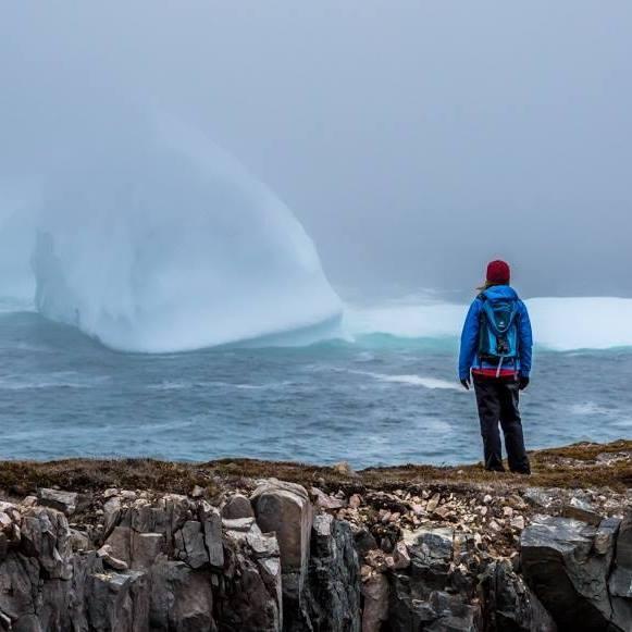 Iceberg watching in Bonavista, Newfoundland, Canada.