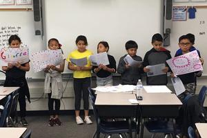 Students participate in readers' theater