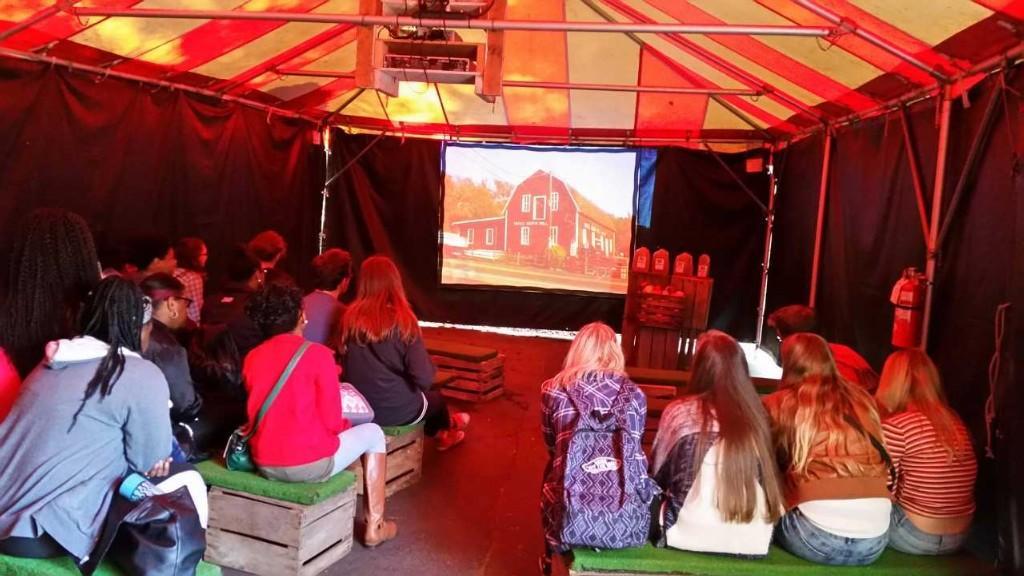 Culinary Arts/Foods students viewing presentation at Yates.