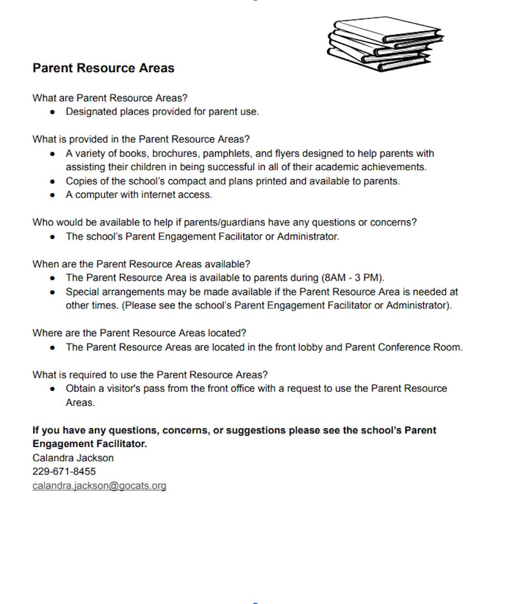 Parent Resource Areas