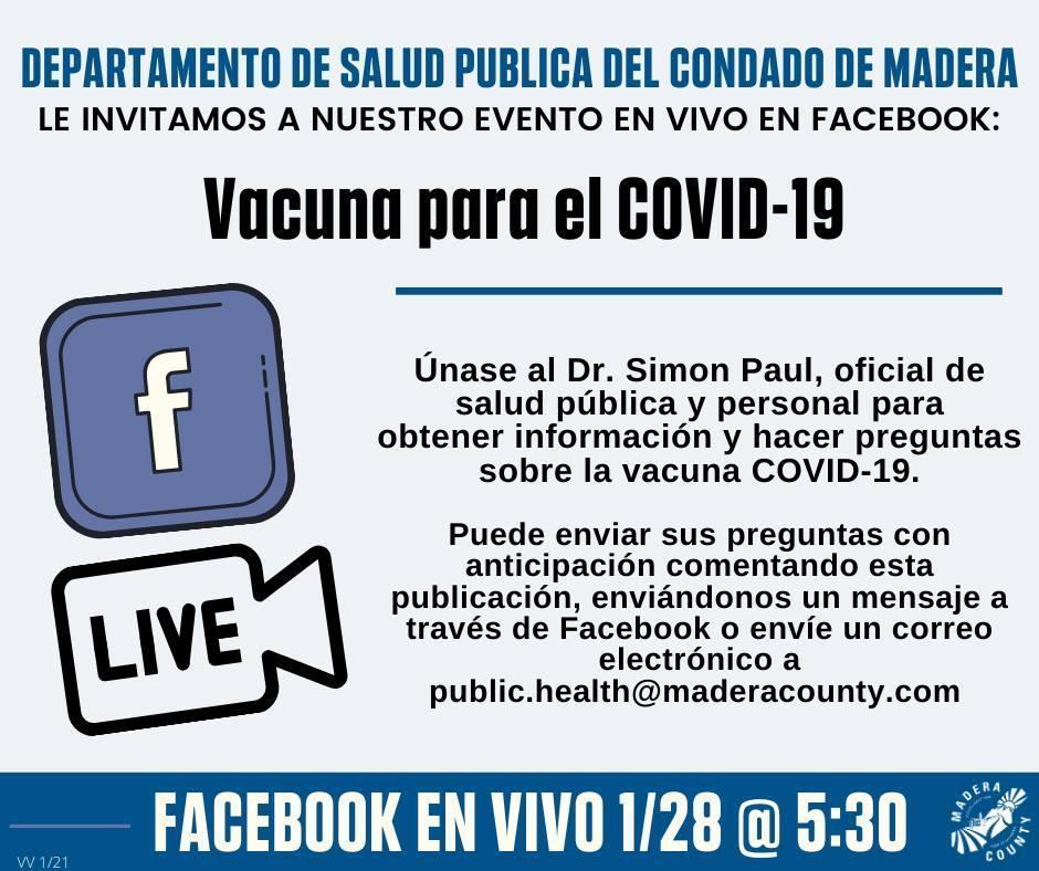 Facebook Live Event 1/28 - Spanish