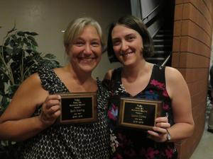 Barb Maring and Laura Oprea received the Shelley Erb