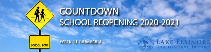Masthead for School Reopening Countdown 2020-21