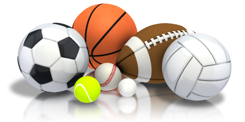 clipart photo of several sports balls